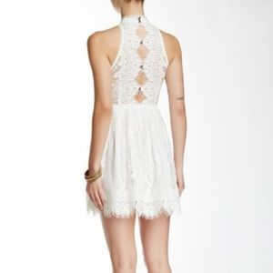 Free People white lace mini dress